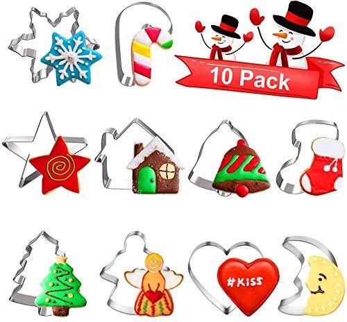 Keksausstecher Weihnachten, Plätzchen Ausstecher, Ausstechformen Weihnachten Set, Weihnachtskeksausstecher BackföRmchen Weihnachten, PläTzchen Backen ZubehöR füR Keks, Backen Fondant PläTzchen