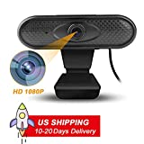 Full HD Webcam 1080p Streaming Web Camera with Microphones, Webcam for Gaming Conferencing & Working, Laptop or Desktop Webcam, USB Computer Camera for Mac Xbox YouTube Skype, Free-Driver Installer