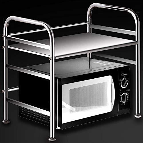 Wmeat-S Küchenregal für Mikrowelle, Edelstahl Standregal Mikrowellenhalter Bäcker Regal Metallregal platzsparend (Size : 1-Tiers)