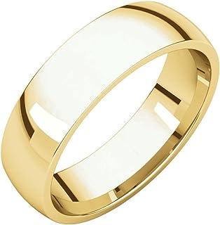 مجوهرات إف بي 14 قيراط ذهب أصفر 5 مم خفيف الراحة صالح للرجال خاتم الزفاف الفرقة الحجم 10