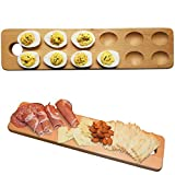 One Tray With Multiple Uses – Simplify your kitchen by having one high quality platter that serves multiple uses: Deviled Egg Platter, Egg Storage Tray (for counter or refrigerator), Hard Boiled Egg Holder, Cheese Platter, Charcuterie Board, Serving ...