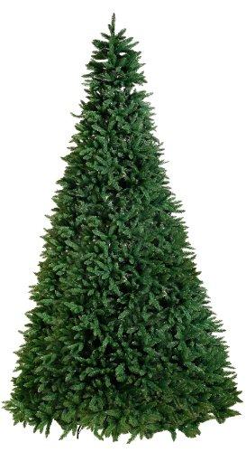 Best Season Calgary, 620 LED Blanc Chaud, 5930 Tips Pisello Sapin de Noël avec Pied en métal pour Les extérieur, Env. 360 x 200 cm, Vert, 608–33