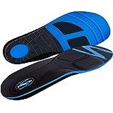 Stridetek Tactical Trainer Orthotic Insoles - Arch Support Metatarsal Pad & Gel Plugs Prevent Foot Pain Plantar Fasciitis & Shin Splints - (Blue) - Men 12 - 11.5 Women 13 - 12.5