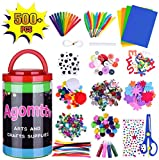 Arts and Crafts Supplies for Kids Toddler DIY Art Craft Kits Crafting Materials Toys Set for School Home...