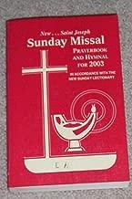 New Saint Joseph Sunday Missal Prayerbook and Hymnal for 2003