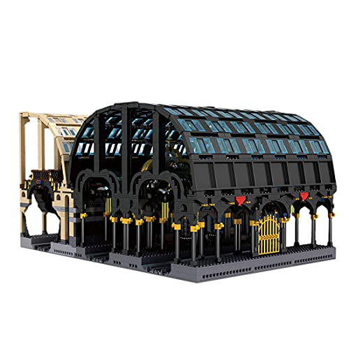 SENG SENG Technik - Stazione magica Baustein modello, 3318 pezzi, stazioni trenino architettura, giocattolo da collezione, compatibile con LEGO