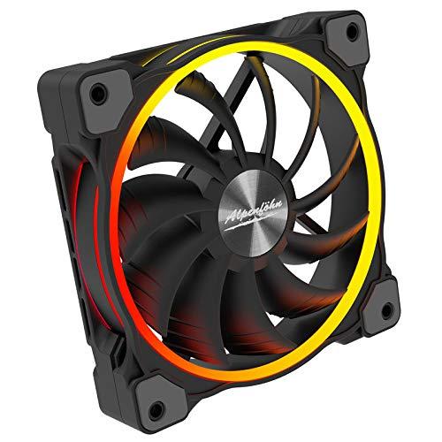 Alpenföhn - Wing Boost 3 High Speed ARGB mit 120mm mit 1 PWM Lüftern Gehäusekühler, CPU Kühler aben einen Maximalen 2200RPM Lüfter Kompatiblen Kühler Innenraum PC Gehäuse.