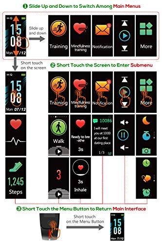 LATEC Pulsera Actividad [Última Versión], Pulsera de Actividad Inteligente Pantalla Color Reloj con Pulsómetro… 7
