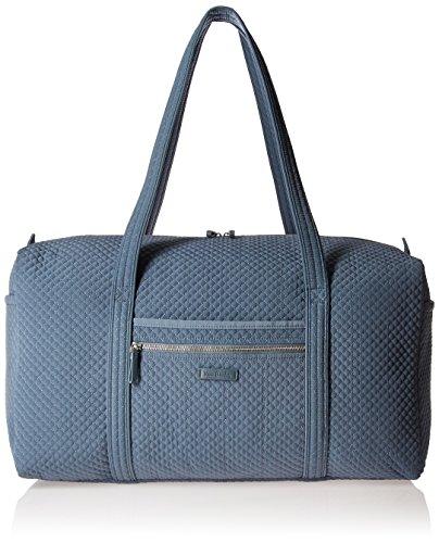 Vera Bradley Microfiber Large Travel Duffle Bag, Charcoal