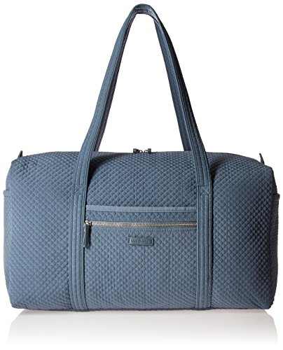 Vera Bradley Microfiber Large Travel Duffle Bag, Charcoal