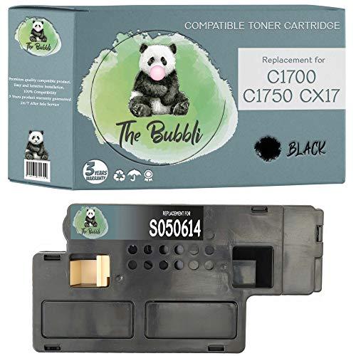 The Bubbli Original | S050614 Tóner Compatible para EPSON AcuLaser CX17 C1700 C1750N CX17NF CX17WF C1750W (Negro)