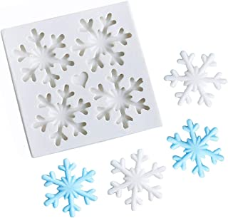 3D Christmas Theme Silicone Fondant mold Snowflake Suger Cake Molds Chocolate Cake Decoration Mold (Style 1)