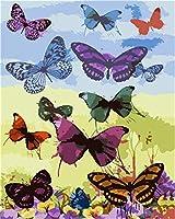 NC56 大人のデジタル絵画蝶花壁アートアートワーク絵画ホームリビングルームオフィスクリスマスデコレーションギフト