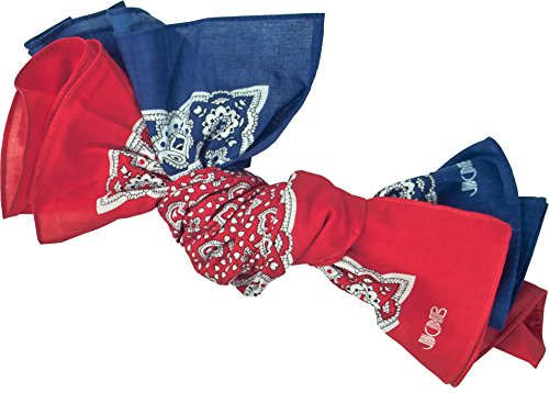JOB Zunft Bandanos Taschentücher 2er-Set, Farbe rot & blau