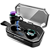 Wireless Earbuds Bluetooth 5.0 TWS Headphones 100H Playtime with Mic Stereo Headset IPX7 Mini in-Ear Earphones Noise Cancelling with 3000mAh Charging Case for Running Sports Workout