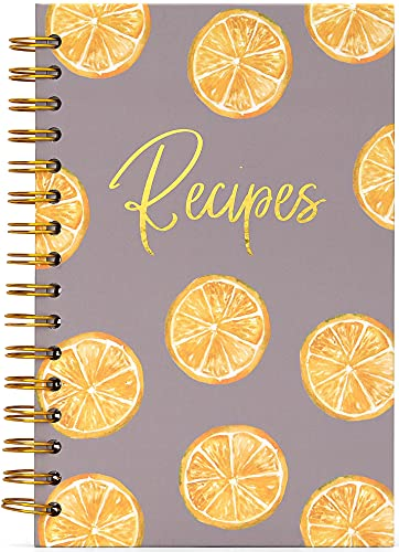 Blank Recipe Book To Write In Your Own Recipes, Recipe Notebook Hardcover Spiral Bound, Recipe...