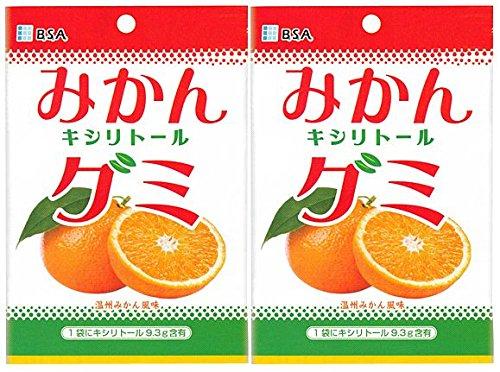 キシリトール100%グミ みかんキシリトールグミ 1袋(12粒) 歯科医院専売品 (2袋)