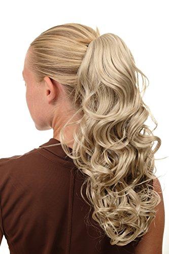 WIG ME UP - SA080-202 Extension natte queue de cheval bouclée volumineuse blond clair mi-longue