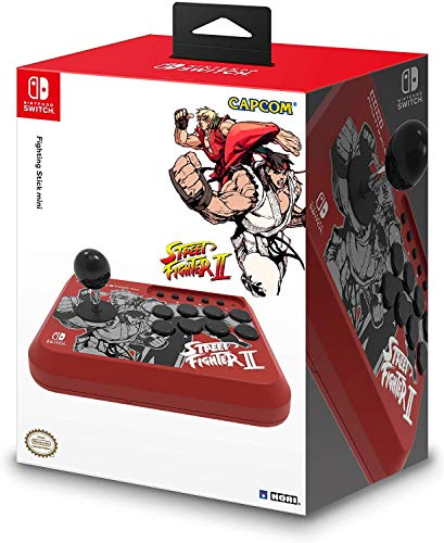 Hori - Fighting Stick Mini, Edición Street Fighter II Ryu y Ken (Nintendo Switch)