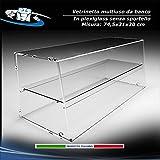 Circuito AUT AUT Vetrina da Banco in Plexiglass F.to 74.5x31x30 cm vetrina per Alimenti Senza sportello