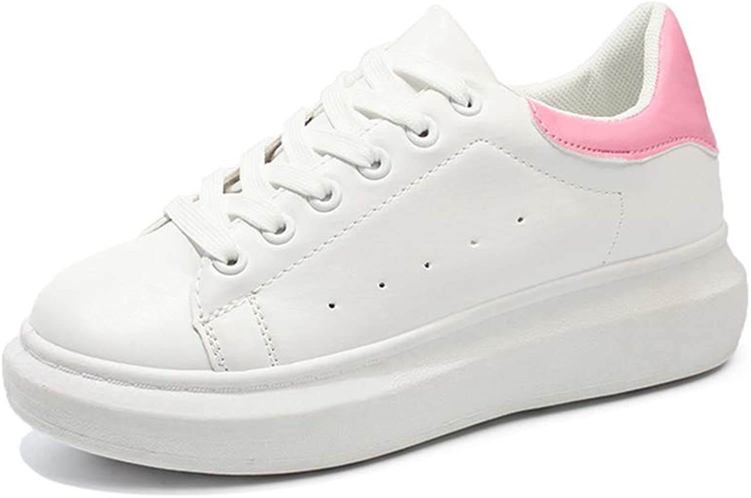 T-JULY Female Spring Wedges White shoes Women Platform Casual Sneakers