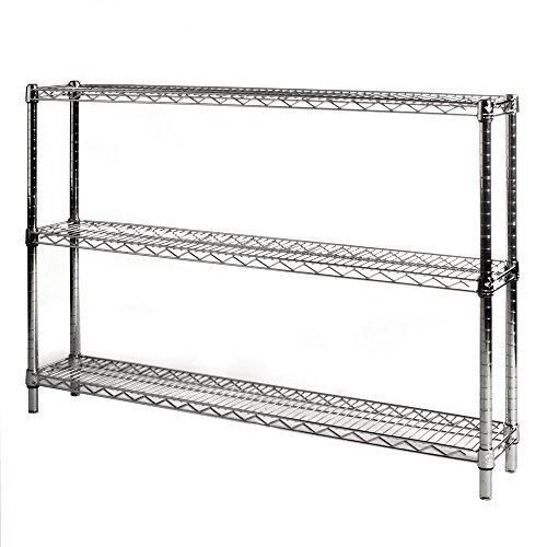BATHWA 6-Shelf Wire Shelving Units, Heavy Duty Metal Shelf Wire Rack with Leveling Feet, Adjustable Utility Storage Shelves for Garage, Kitchen, Living Room, Bathroom, 21.26L x 11.42W x 62.99H
