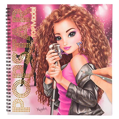 Depesche 10900 Kleurboek TOPModel Popstar, ca. 25,5 x 26,5 x 1,3 cm.