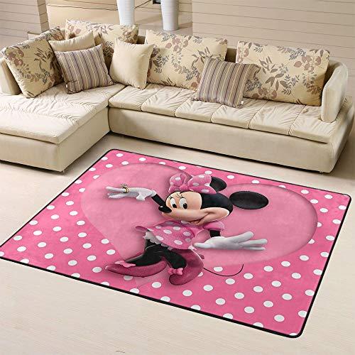 Zmacdk Alfombra antideslizante para guardería, de Mickey Minnie Mouse de 180 cm x 210 cm, diseño de Mickey Minnie Mouse