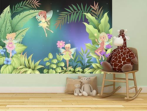 Bilderdepot24 Fototapete selbstklebend Kinderbild - Feenwiese - Pastell 150x100 cm - Poster – Dekoration – Wandbild – Wandposter – Wand - Wanddeko