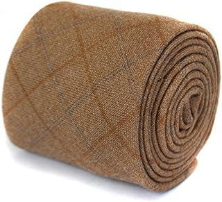 Frederick Thomas marrón claro tweed lana corbata