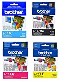Brother LC51 Ink Cartridge Set Black, Cyan, Magenta, Yellow for DCP-130C in retail packing