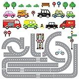 DECOWALL DW-1204 10 Transportes y Carreteras Vinilo Pegatinas Decorativas Adhesiva Pared Dormitorio Salón Guardería Habitación Infantiles Niños Bebés