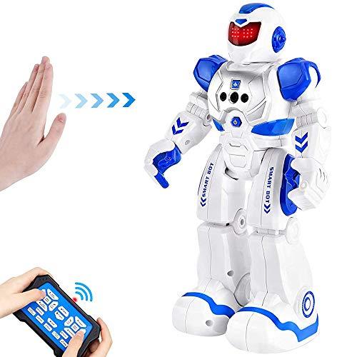 BEIWO Smart RC Robots for Kids Intelligent Programmable Robot Toy Remote Control Robot for Boy Toys Dancing Singing Talking Gesture Sensing Robotic Toys Boys Girls Kids Gift