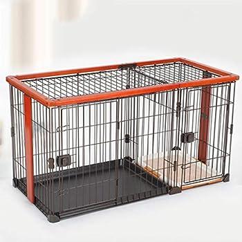 Chenils Cages Cage pour Chien Cage pour Chien Petit Chien d'intérieur avec Toilette clôture intérieure Chiots et Chats adapté pour 25kg Animaux Serrure de Cages