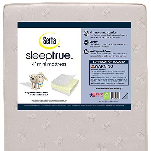 Serta SleepTrue 4-Inch Mini Crib Mattress