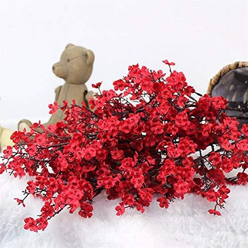 SJZS Aliento Gypsophila Falso Artificial y Las Flores Amarillas Flores de Cerezo de Flores Artificiales de Las Flores del bebé decoración de la Boda de DIY el Ramo de Flores de imitación Branch