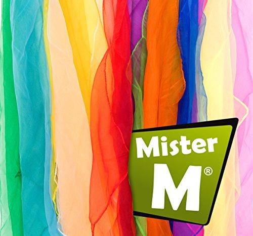 Mister M ✓ 12 Tücher ✓ Rhythmik, Jonglier, Tanz Tücher ✓ mit Online Jonglier Lern Video