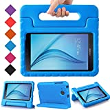 BMOUO Kids Case for Samsung Galaxy Tab E Lite 7.0 inch - ShockProof Case Light Weight Kids Case Super Protection Cover Handle Stand Case for Children for Samsung Galaxy Tab E Lite 7-Inch Tablet - Blue
