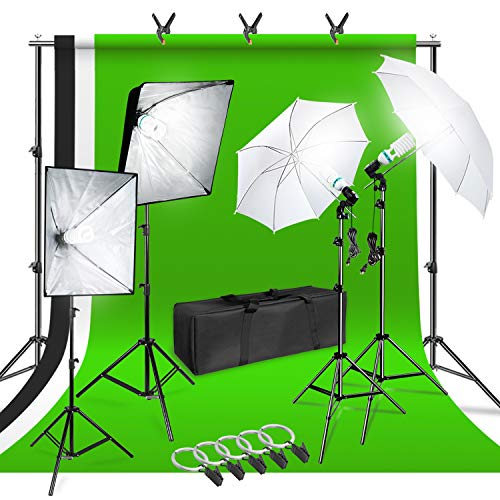 LimoStudio Photo Shooting Kit with Background Support System &...