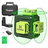 Huepar 3x360° レーザー墨出し器 グリーン 緑色 レーザー クロスライン 大矩 フルライン照射モデル 自動補正 2電源方式 Type-C充電可能 受光器対応 B03CG