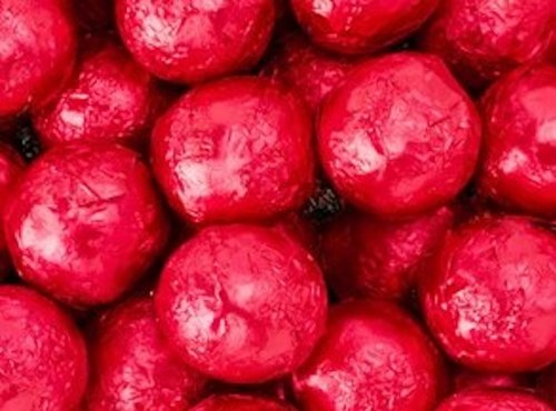 Red Foiled Milk Chocolate Balls 1LB Bag