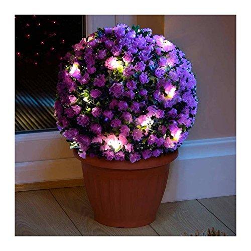 4x 28cm Solalite Formschnitt Ball Light 20LED Garten Hängeleuchte Ball, lila.