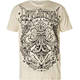 Affliction Men's Graphic T-Shirt, Corroded Variant, Short Sleeve Crew Neck Shirt