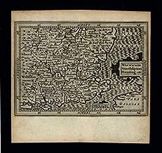 Warwick Northampton Hunting England Counties 1639 Blaeu miniature antique map