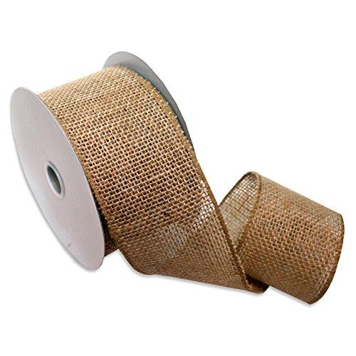 Burlap (Wired) Ribbon, 2.5