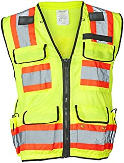 Ironwear 1278FR-L-04-XL ANSI Class 2 Flame Retardant Polyester Surveyor SAFETY Vest with 2