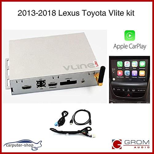 GROM Audio VLite (VT1-LEX8) Smart Phone Mirroring kit met CarPlay, Bluetooth, USB Media & Camera ingangen - Compatibel met bepaalde Lexus Toyota voertuigen 2013-2018
