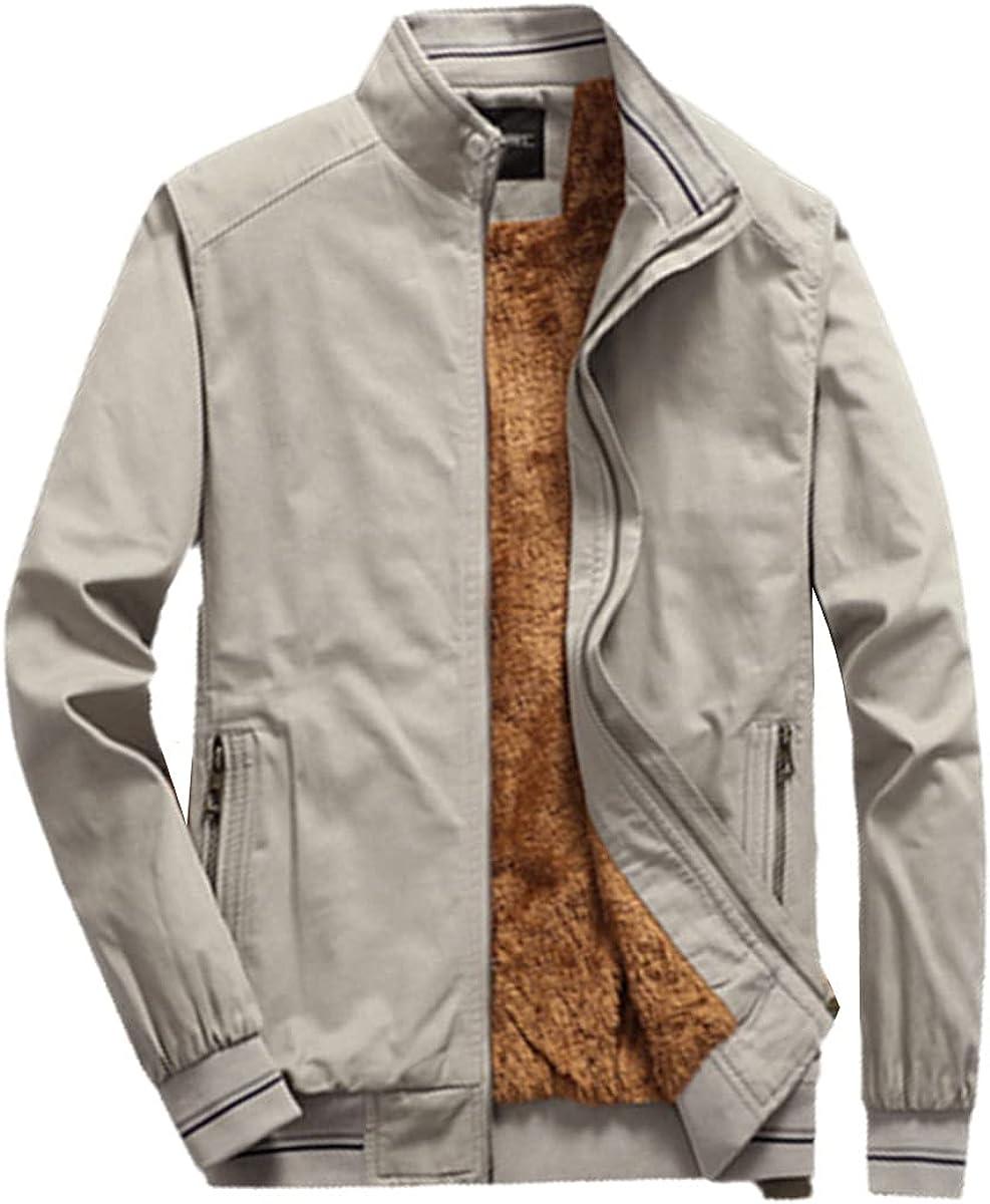Fleece Jacket Men's Bomber Jacket Warm Fashion Baseball Hip Hop Jacket Slim Jacket