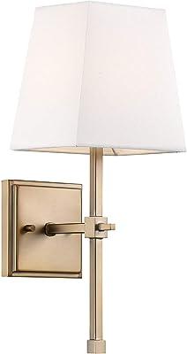 Nuvo 60/6707 Highline 1 Light Vanity, Burnished Brass Finish