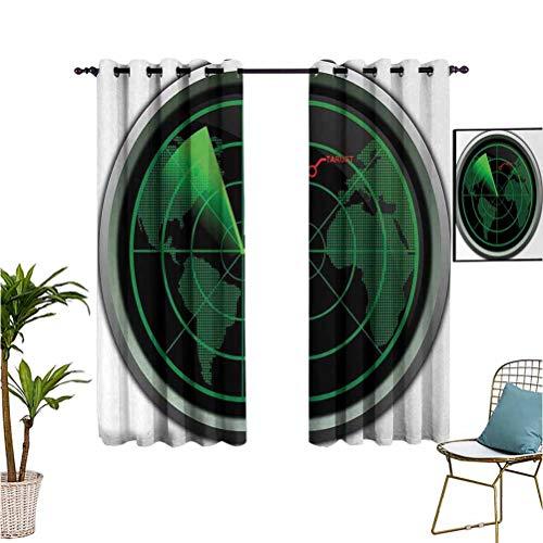Affordable nooweihome AirplanePrinted curtainMilitary Radar Screen Global Defense Danger Detecter Sc...